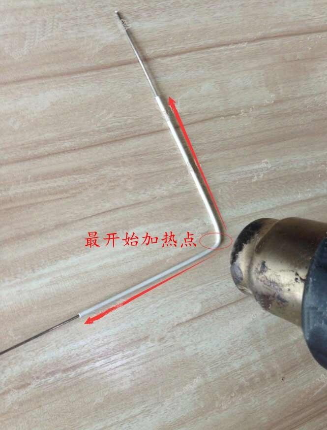 热缩管正确收缩方式