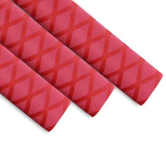 红色花纹热缩管